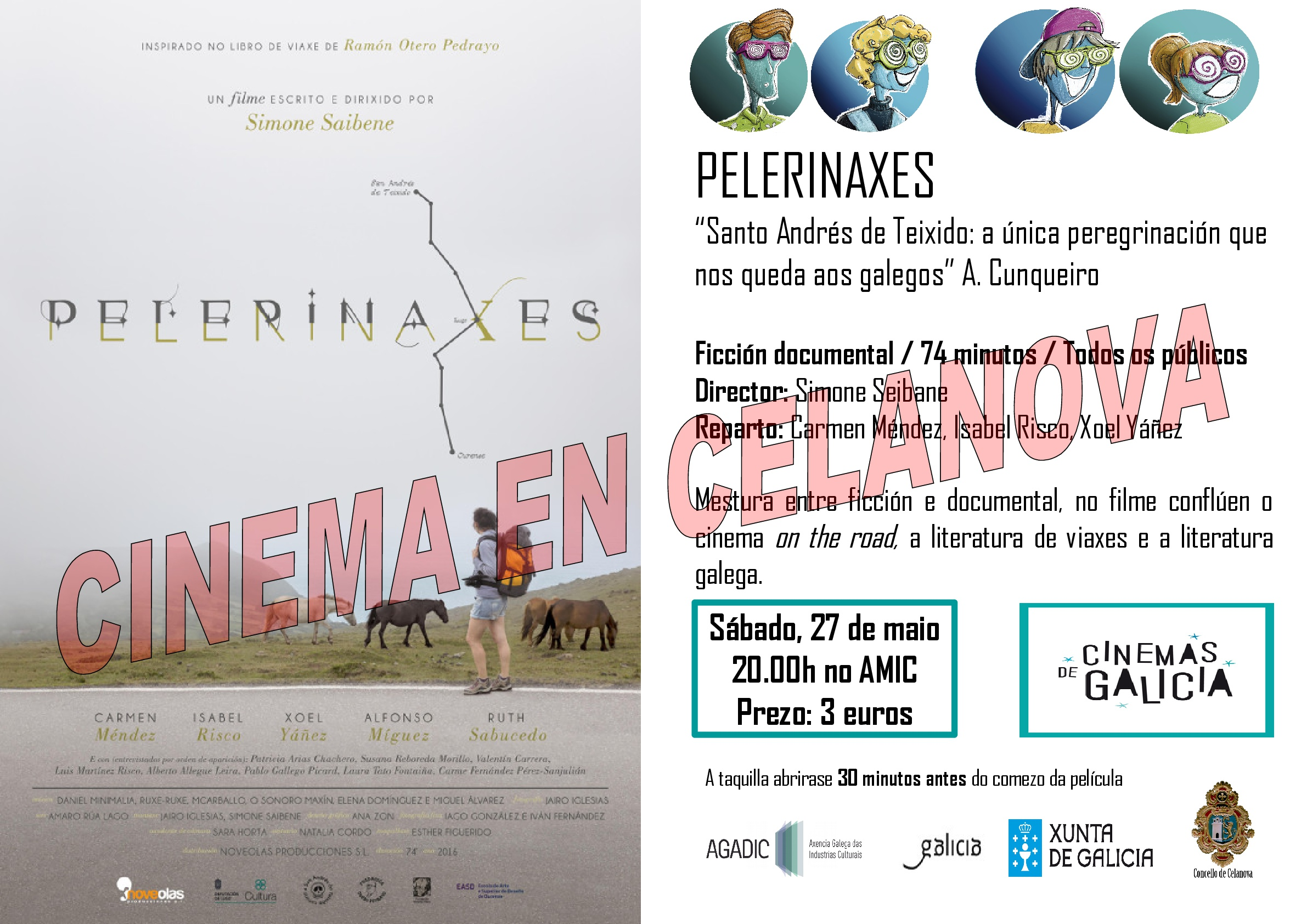 Cinema no AMIC: Pelegrinaxes